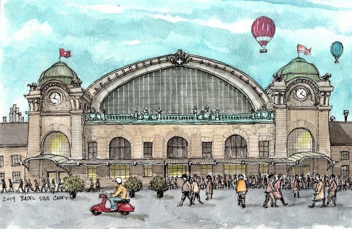 Basel SBB Bahnhof - Rob Carey Art