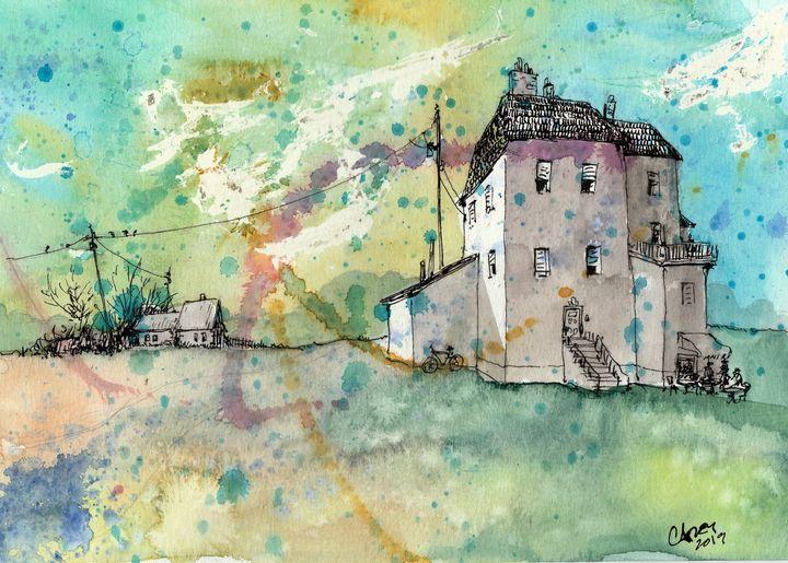 Château de Lumière de l'été - Rob Carey Art