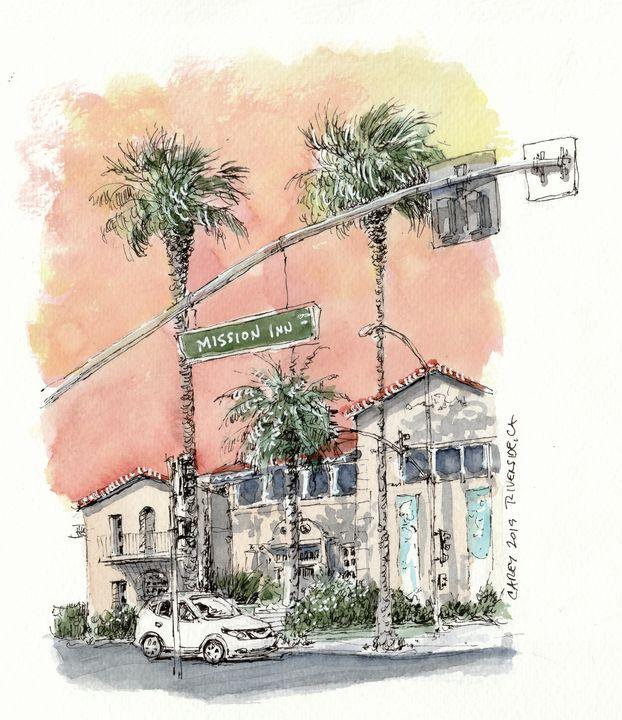 Mission Inn Riverside CA - Rob Carey Art