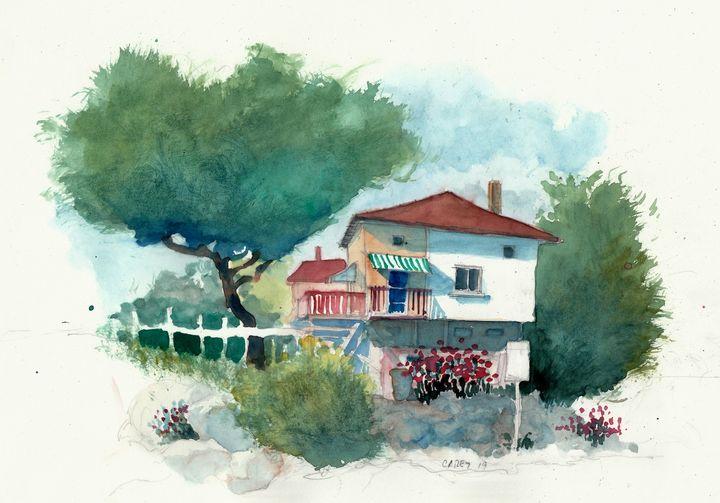 Beach House - Rob Carey Art