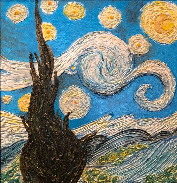 Van Gogh In Glue - Angel B Coleman Art