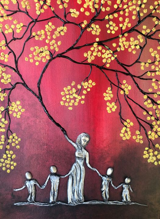 Mother of Four Tree - Angel B Coleman Art