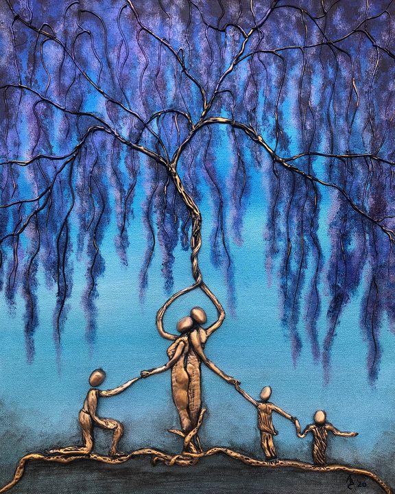 Blended Family - Angel B Coleman Art