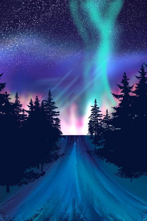 Aurora Borealis by me - My art