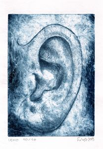 THE EAR ,DRY POINT , 10/10,2013