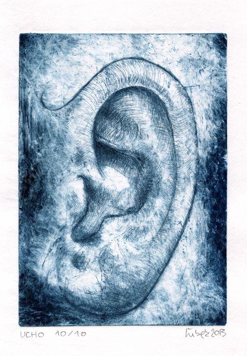 THE EAR ,DRY POINT , 10/10,2013 - Igor Lubek