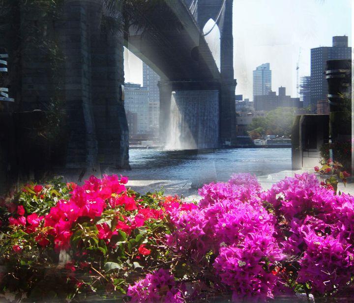 Brooklyn Bridge Floral - Pepsiart