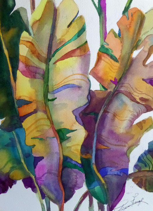 Tropical Rainbow Leaves - Pepsiart