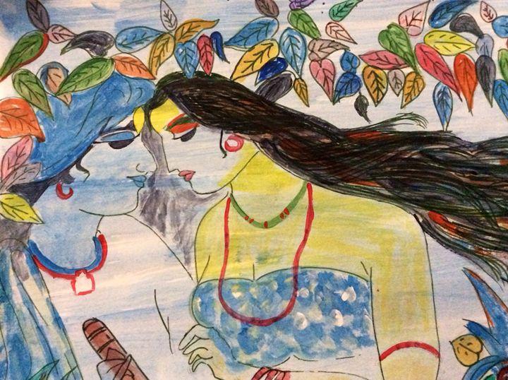 Lord krishna and Radha - SkM arts