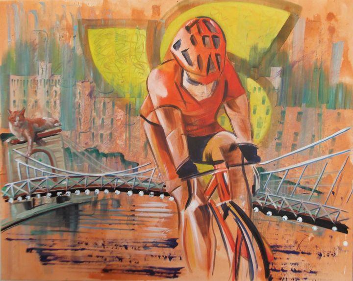 City Cycling - redmaidenart