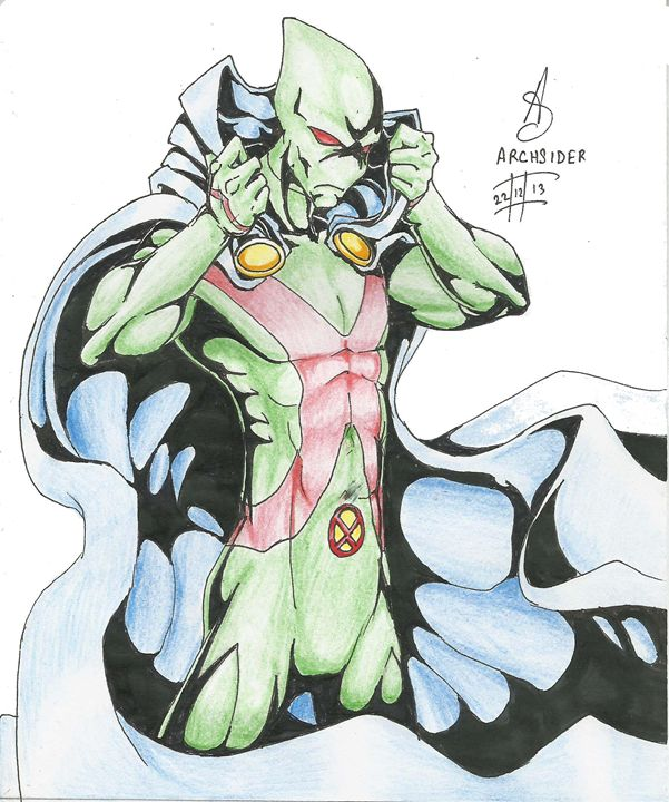 Martian Manhunter colored - ArcGallery