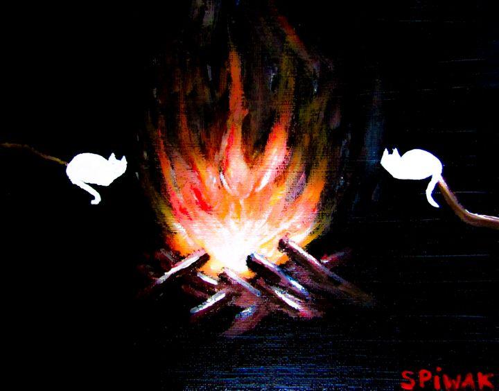 Marshmeowlos - Art by Kim Spiwak