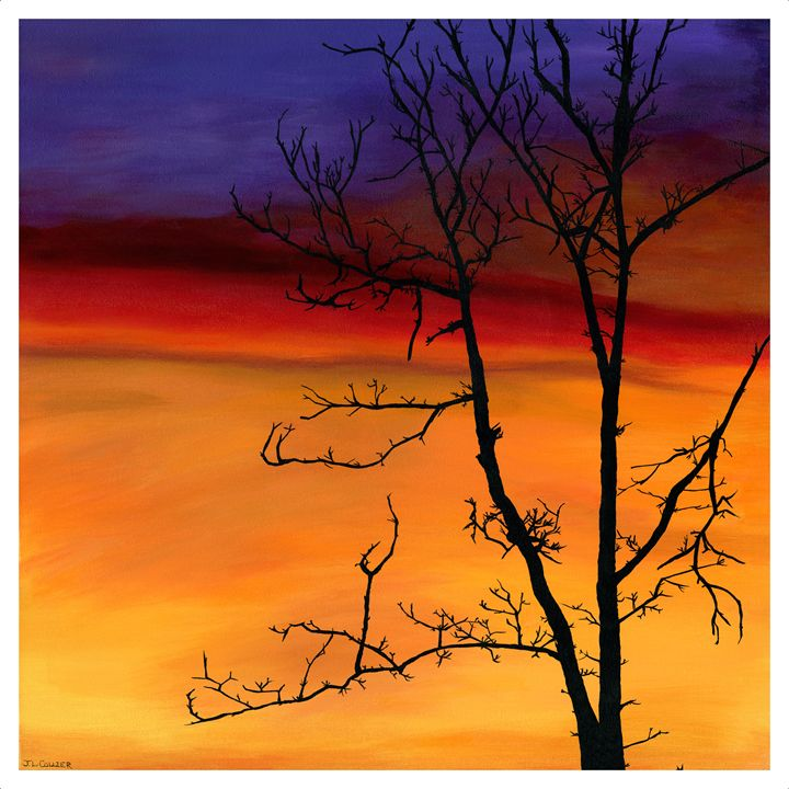 Silhouette at sunset - Janet Collier