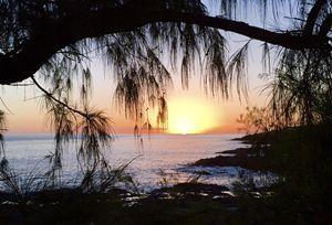 Sunset at Spouting Horn, Kauai