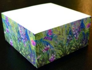 Purple Pink Green Sticky Note Cube