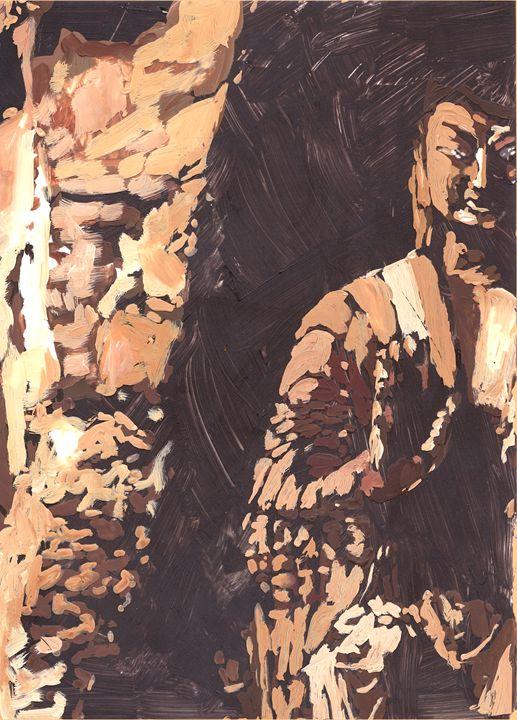 Buddha in Cave - NarayaniArts
