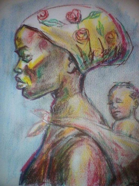 Mother and child - AtakaloSokoArt