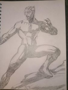Black Panther Pencil Drawing