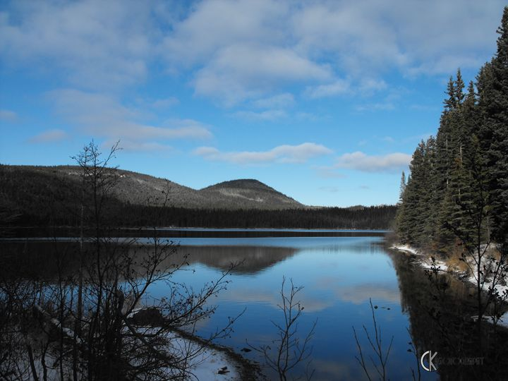 Lake in Chic-choc Mountains Quebec - CK Photography