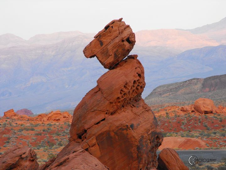 Valley of Fire - Balancing Rock - CK Photography