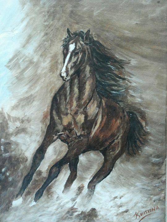 abstract of horse - krishnas artwork