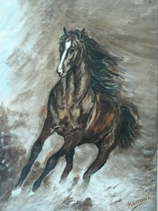 abstract of horse