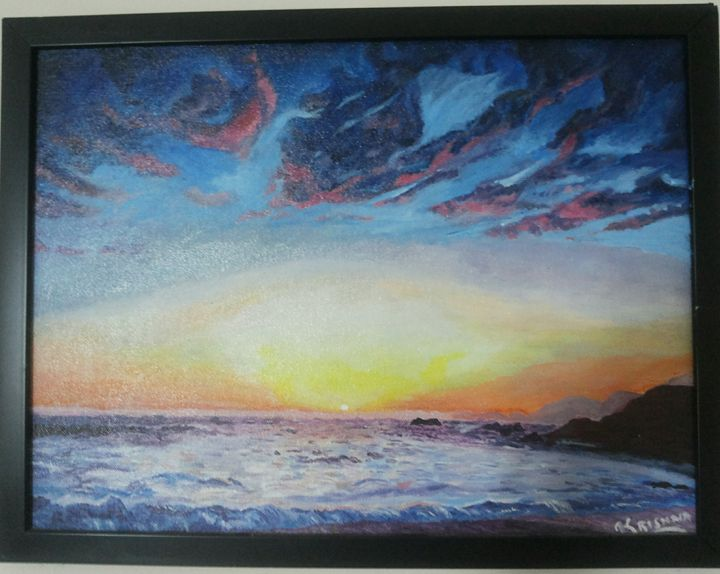 abstract of seashore - krishnas artwork