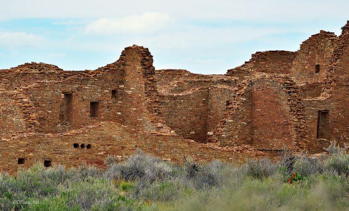 Pueblo Bonito Chaco Canyon - Fine Art by Debby