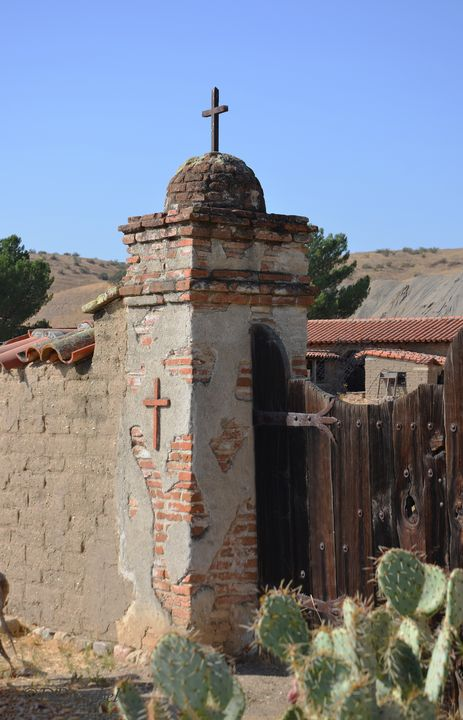 Mission San Miguel Corner Wall - Fine Art by Debby