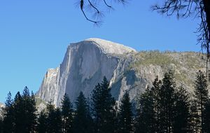 Yosemite Half Dome from Yosemite Vil