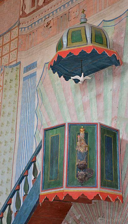 Mission San Miguel Pulpit - Fine Art by Debby
