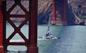 Golden Gate Bridge Sailboat