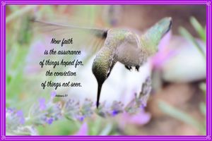 Lavender and the Hummingbird - Fine Art by Debby