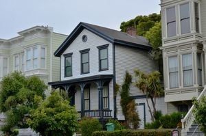 San Francisco Townhouses on A Hill