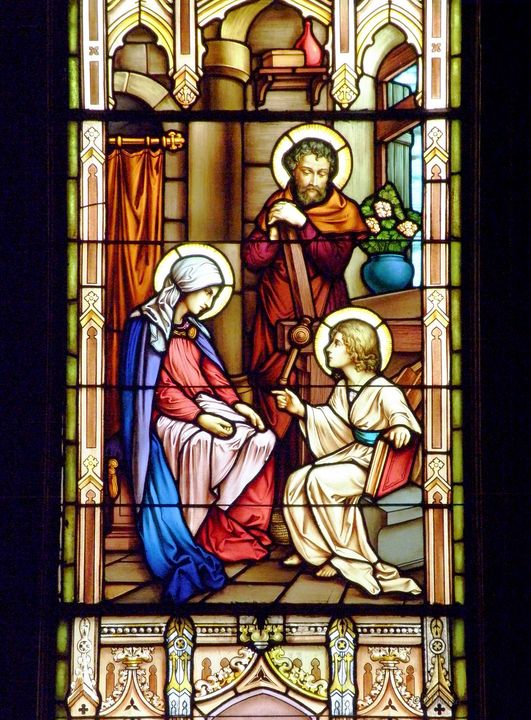 Mary and Joseph Find Child Jesus in - Fine Art by Debby