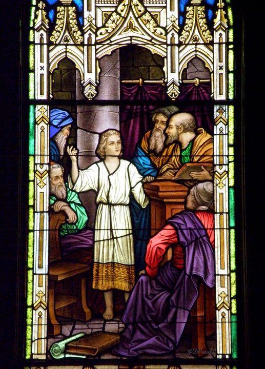 Jesus Teaching in the Temple - Fine Art by Debby