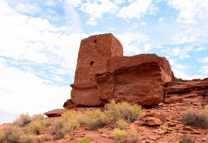 Wukoki Pueblo Ruins - Fine Art by Debby
