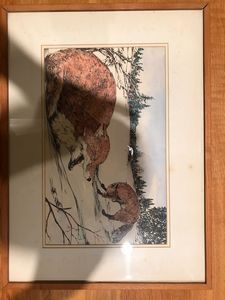 Original painting of Foxes in Winter
