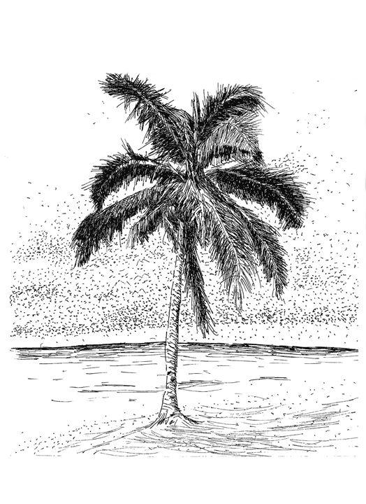 Tropical Caribbean Palm Tree - Naughty Jesus