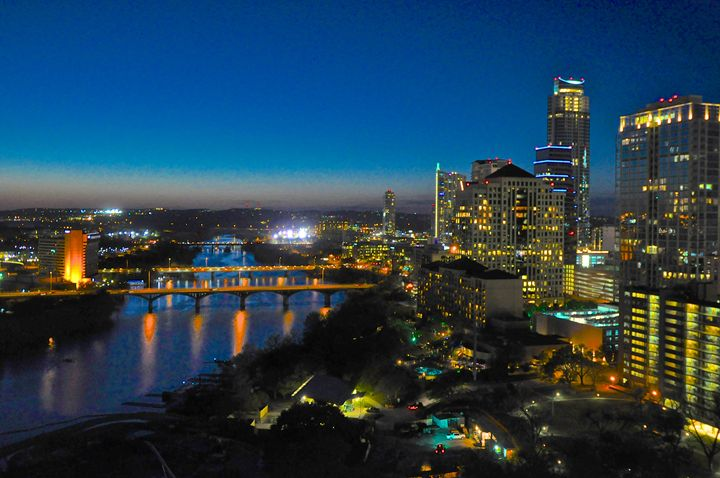 Austin at Night - Deane Photography