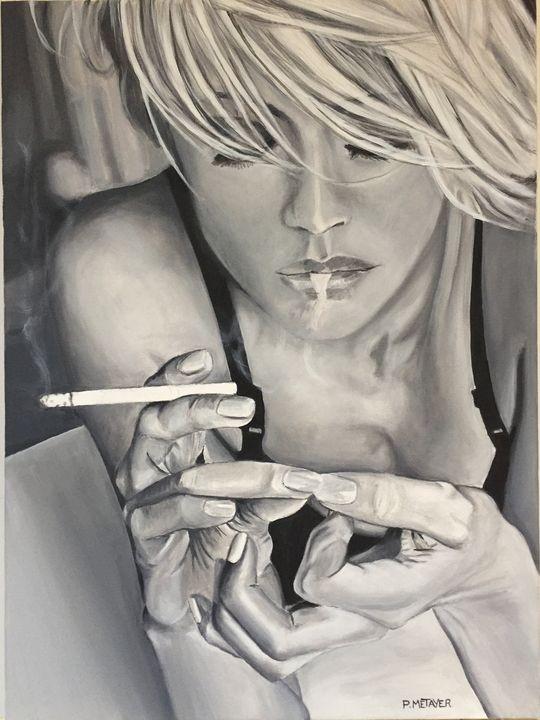 Blonde à la cigarette N°31 - Philippe METAYER