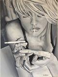 Blonde à la cigarette N°31
