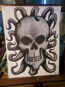 skull with tentacles