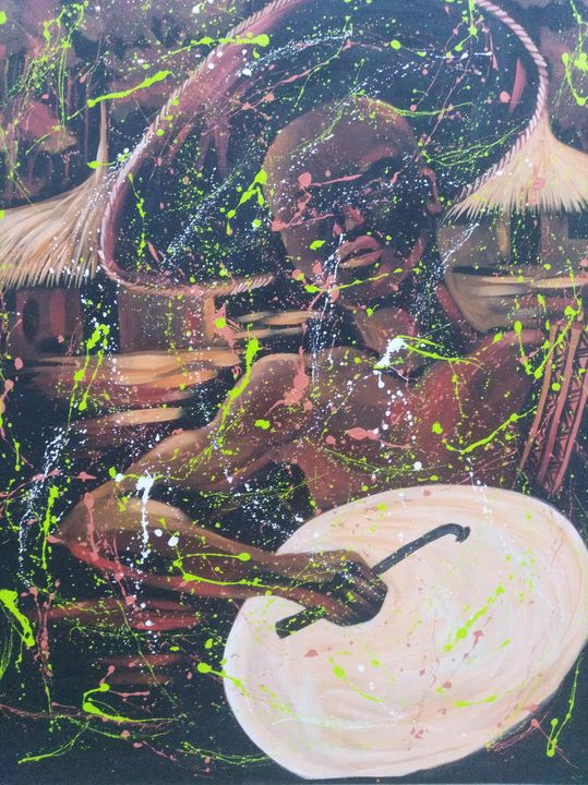 Ajah the drummer - Master piece art empire