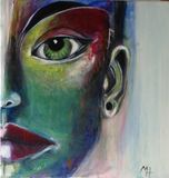 Original colorful abstract face