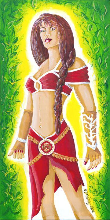 Muladhara Root Chakra Goddess - Divinity Art