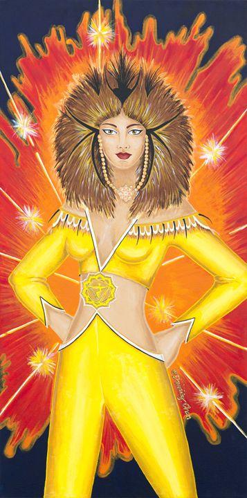 Manipura Solar Plexus Chakra Goddess - Divinity Art