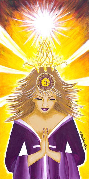 Sahasrara Crown Chakra Goddess - Divinity Art