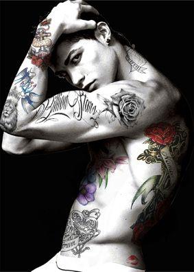 """CR"" Cristiano Ronaldo - M Tattoo Art"