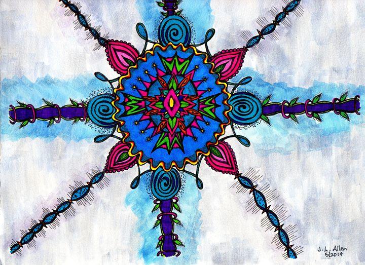 Blue Starfire - jlallen artfull designs